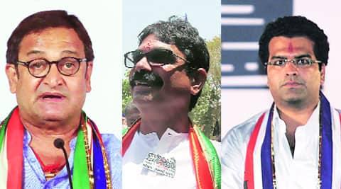 (L-R) Mahesh Manjrekar, Bala Nandgaonkar & Aditya Shirodkar.