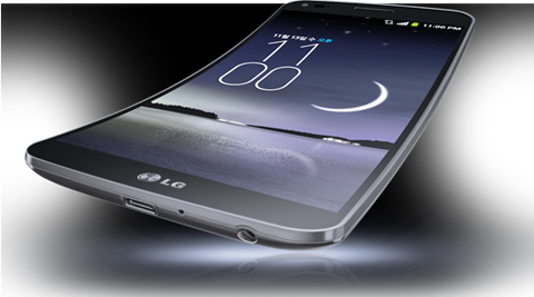 LG G Flex has a curved screen that can flex itself if needed