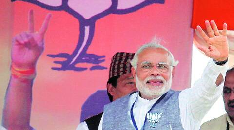 Narendra Modi at a rally in Jharkhand on Thursday. (Photo: PTI)