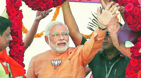 Modi will address a rally in Amethi on Monday, the last day of campaigning in the constituency which will go to polls on May 7.