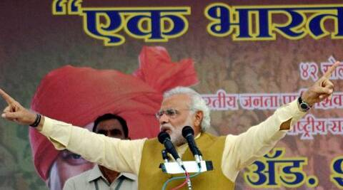 """The country has to be saved from the hands of these black magicians, who have blindfolded the people and ruined the country,"" Modi said. (PTI)"