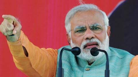 Modi, addressing the rally, urged the voters to elect not less than 300 BJP MPs to the Lok Sabha. (PTI)