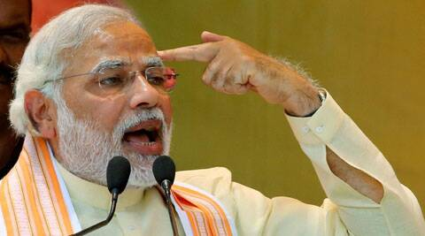 Modi reacted with a brief silence at first when confronted with a question on Gujarat riots.