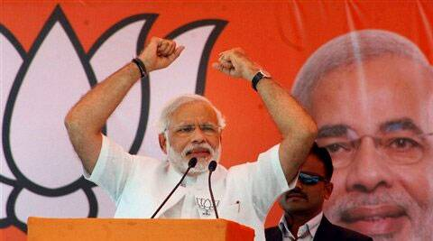 Modi's campaign managers said lakhs of people are expected to participate in the two-km-long road. (PTI)