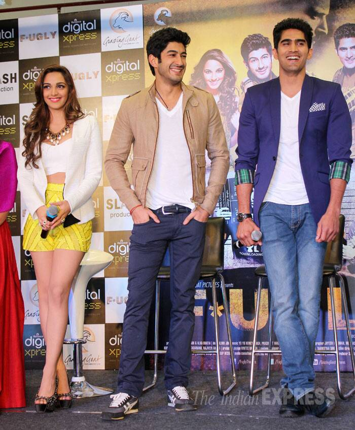 Vijender, Mohit and Kiara are all smiles at the first look launch. (Photo: Varinder Chawla)