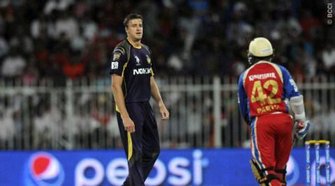 Kolkata Knight Riders pacer Morne Morkel was reprimanded for using insulting language during their IPL-7 fixture against Royal Challengers Bangalore on Thursday. (BCCI/IPL)