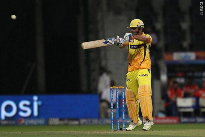 Captain of the Chennai Super Kings, MS Dhoni played a 15-balls 32-runs innings that lifted the tempo of his team towards the end. (Photo: BCCI/IPL)