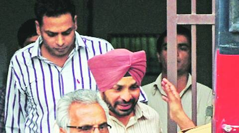 The convicts: Nand Kishore, Sukhdev Singh and Gurvinder Singh (shirt with lines) at District Court in Sector 43, Chandigarh, on Tuesday. (Photo: Jasbir Malhi)