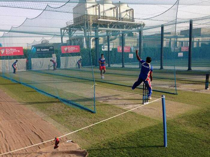 The glass turner is back! Muralitharan, playing for the RCB, was spotted bowling in the nets. The slow and low pitches of UAE will suit his style of bowling. Does he care? He can turn it anywhere (Twitter)