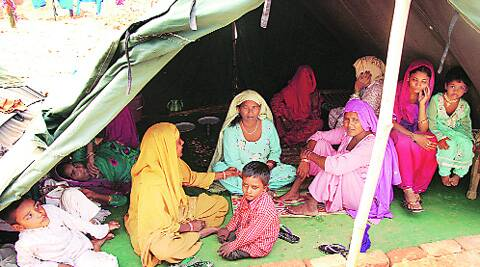 At a camp in Malkana.Gajendra Yadav