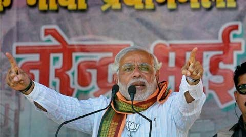 Modi said it was the BJP government in four states that got the chance to work for the welfare of adivasis.