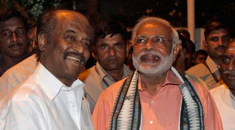 "Rajinikanth said he was a ""well-wisher"" of Modi and wished him ""all the best"" while Modi described the superstar as a ""good friend"". (PTI)"