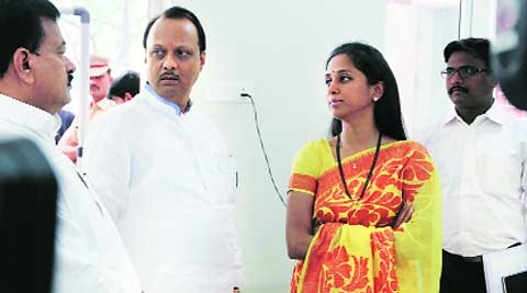 So far, NCP candidate from Baramati Supriya Sule (extreme right) has spent Rs 11.61 lakh on her campaign. (Express archive)