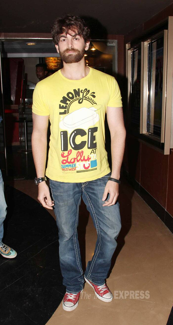 Long time no see! Actor Neil Nitin Mukesh also made an appearance. (Photo: Varinder Chawla)