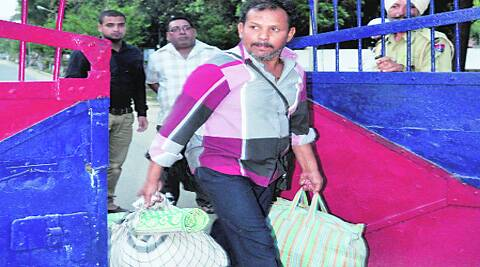 Yusuf Nepali after being released in Patiala on Saturday.  (Harmeet Sodhi)