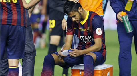 Brazil striker Neymar and Spain's Alba should be back fit in time for the World Cup starting June 13. (Reuters)