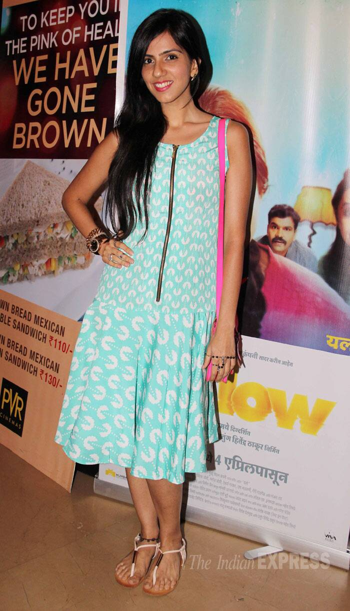 Designer Nishka Lulla picked a printed summery number for the movie outing. (Photo: Varinder Chawla)