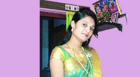 Smitha was found with a rope around her neck and signs of bleeding from mouth and nose.