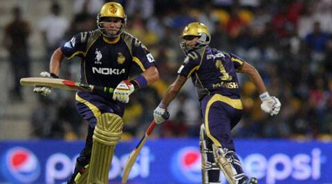 Jacques Kallis (L) and Manish Pandey (R) put up a match winning 130 run partnership for Kolkata Knight Riders on Wednesday. (IPL)