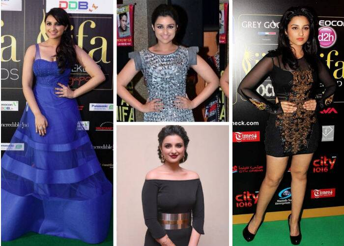 'Hasee Toh Phasee' actress Parineeti Chopra also went for gold and black in a belted Nikhil Thampi creation with a thigh high slit and red peep toes at the 2013 IIFA awards. <br /><br /> For the IIFA Rocks that year, Parineeti showed off her legs in a Falguni and Shane Peacock number. Back in 2012, Parineeti was pretty in a prom-like gown by Jatin Varma. For the IIFA Rocks in 2012, Parineeti wore a silver-grey dress by Anand Bhushan.