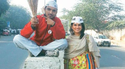 For a Cause: Manisha Lath Gupta at a campaign in Mumbai.