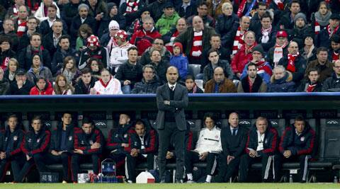Guardiola is also struggling with the language, often mixing German and English in the same sentence. (Reuters Photo)