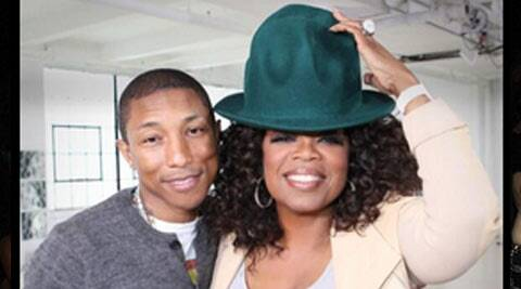 The 41-year-old singer cried out of happiness after Oprah, 60, showed him a montage of fan videos to his hit track 'Happy', reported Contactmusic. (Twitter)
