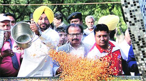 Bittu at Rakh Bagh in Ludhiana on Sunday.