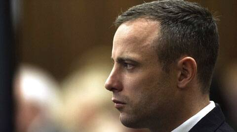 Oscar Pistorius looks on during his murder trial in the North Gauteng High Court in Pretoria on Wednesday. (Reuters)
