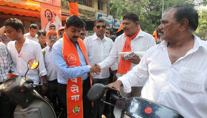 Shiv Sena candidate has been a corporator and also worked as a standing committee chairman for four years.  Express photo by Prashant Nadkar.