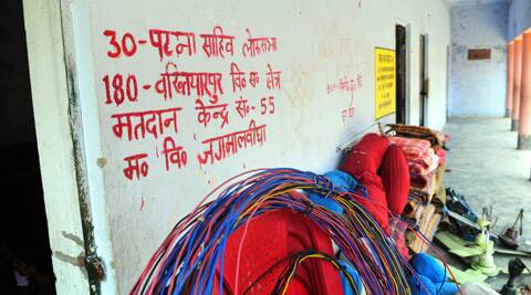 The polling booth in Jagmalbigha village, Patna Saheb. (Photo: Prashant Ravi)