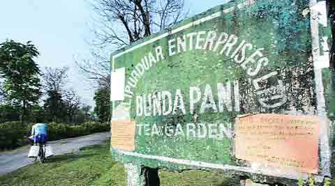 Boycott notice on Bundapani signboard.Subham Dutta
