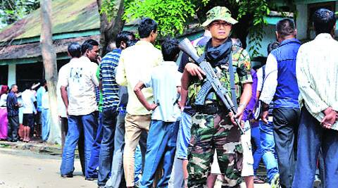 Polling at a booth in Dimapur on April 9. (PTI archive)
