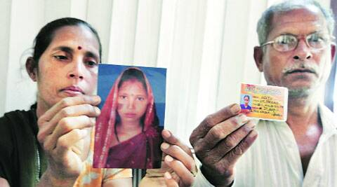 Mother of Poonam and father of Neetu with their photos.