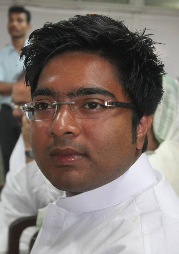 Abhishek Banerjee is TMC's candidate from Diamond Harbour Lok Sabha constituency. ( Express photo by Partha Paul)