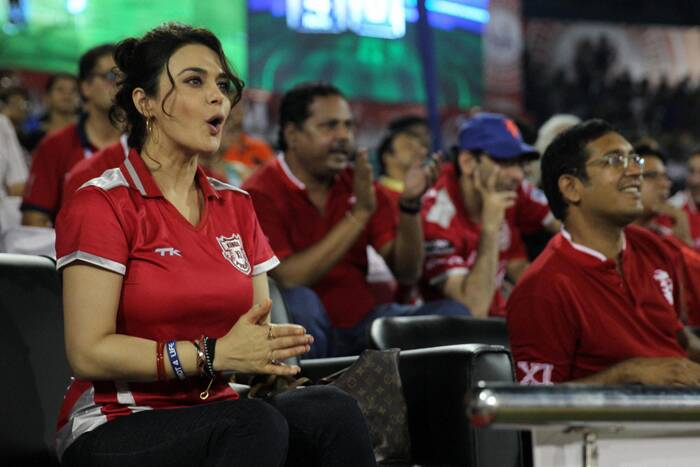 Preity Zinta, co-owner of Kings X1 Punjab, was seen cheering for her team that has been on a winning streak. Her team defeated CSK on Wednesday (May 7) at the Barabati Stadium in Cuttack. (PTI)