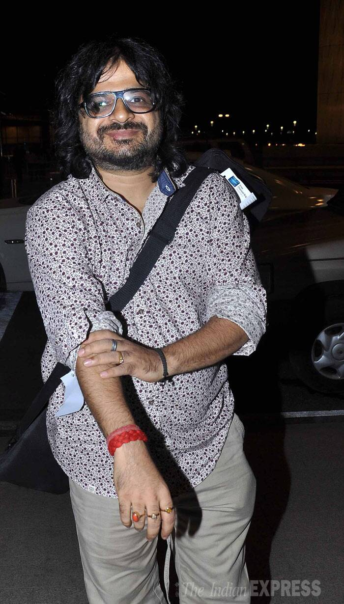 Music composer Pritam seemed quite happy to take off. (Photo: Varinder Chawla)