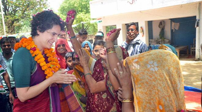 Priyanka Vadra in Rae Bareli, seeks to corner Narendra Modi on 'snoopgate'