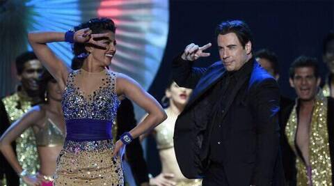 John Travolta showed off his moves as he shook a leg with Priyanka Chopra.