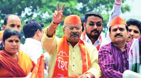 Adhalrao-Patil during his campaign Tuesday.Rajesh Stephan