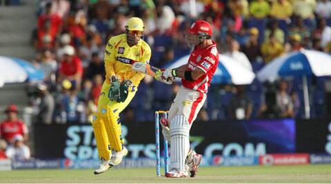 Glenn Maxwell played the reverse sweep to a great effect in his innings of 95 off 43 balls. (BCCI/IPL)