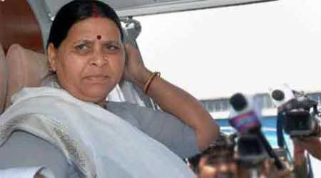 Rabri Devi was accompanied by her husband and RJD chief Lalu Prasad in a helicopter from Patna.