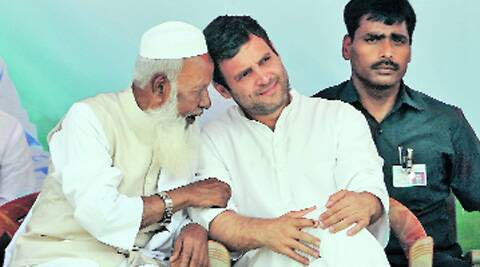 "Rahul also reiterated his ""toffee model"" barb against BJP's Prime Ministerial candidate Narendra Modi. (Photo: Prashant Ravi)"