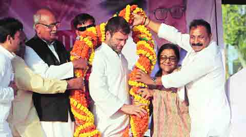 Rahul in Aurangabad on Tuesday.Ravi S.Sahni