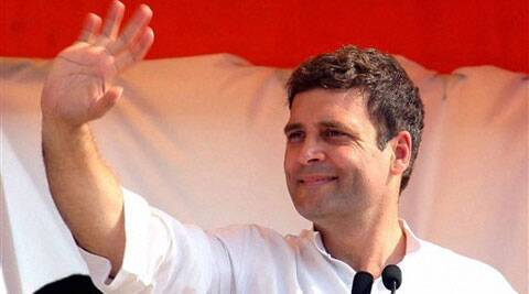 Congress Vice President Rahul Gandhi waves to crowd during an election rally in Bellary, Karnataka on Friday. (PTI)