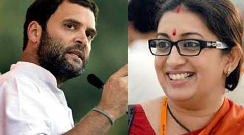 BJP has decided to field actor-turned-politician Smriti Irani against Rahul Gandhi in Amethi.