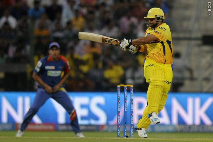 Suresh Raina played the lead role in the Chennai innings hitting a half century (56 runs off 41 balls.) (Photo: BCCI/IPL)