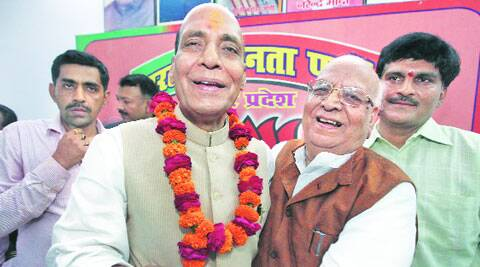 Rajnath prefers indoor meetings as kin, Lalji cover outdoor campaign