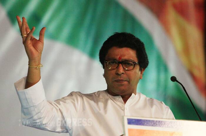 In an unexpected development, MNS president Raj Thackeray announced his party's public support to BJP leader Gopinath Munde who is attempting to retain his Beed Lok Sabha seat in Maharashtra. (IE Photo: Amit Chakravarty)