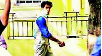 Ranbir Kapoor sporting the 60s look for a scene in Bombay Velvet